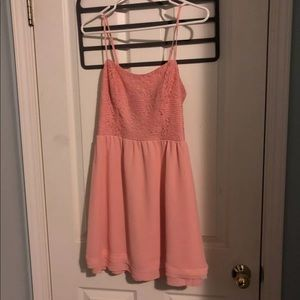 Peach dress with back cutouts